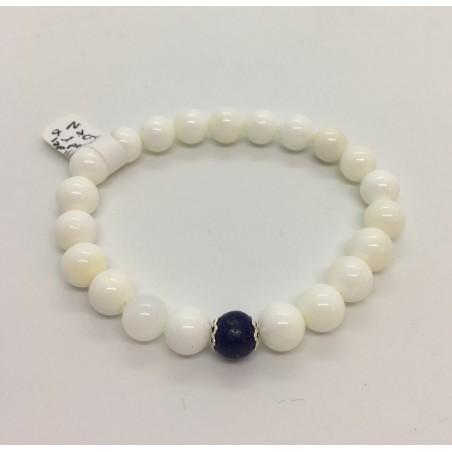 Bracelet nacre et lapis lazuli
