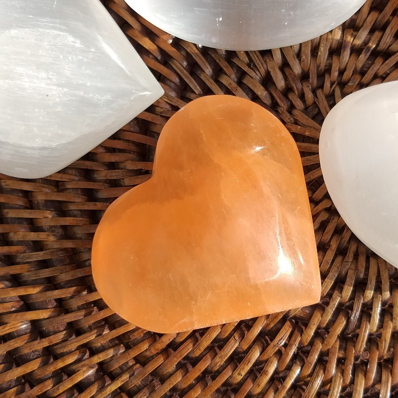 selenite orange coeur