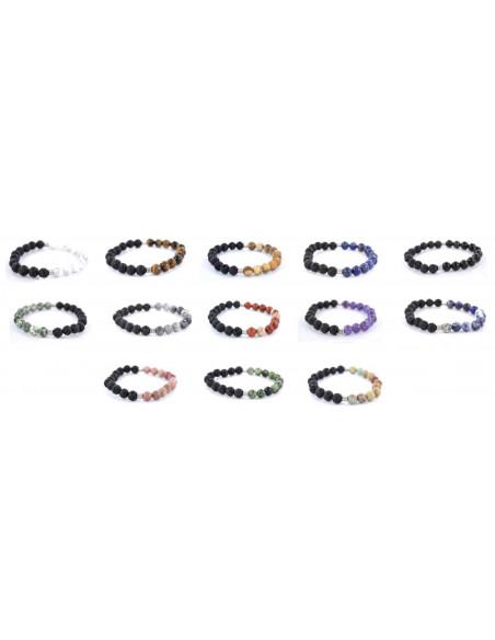 Bracelet mix 2 pierres