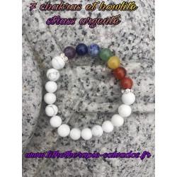 bracelet 7 chakras véritable et howlite