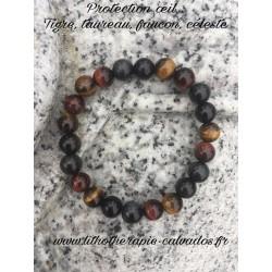 bracelet œil tigre taureau faucon et céleste