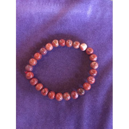 bracelet jaspe rouge cholestérol