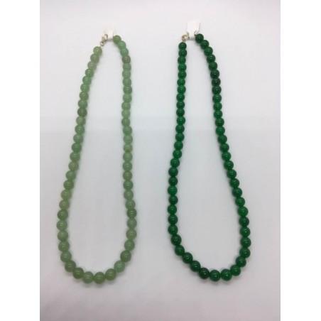 colliers aventurine verte claire et foncée