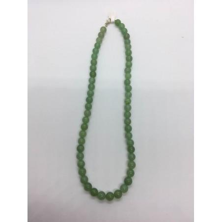 collier aventurine verte claire