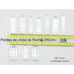 pointes cristal de roche