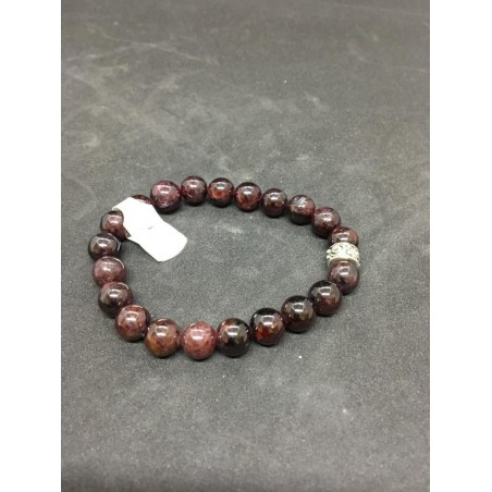 bracelet grenat et rondelle spirale