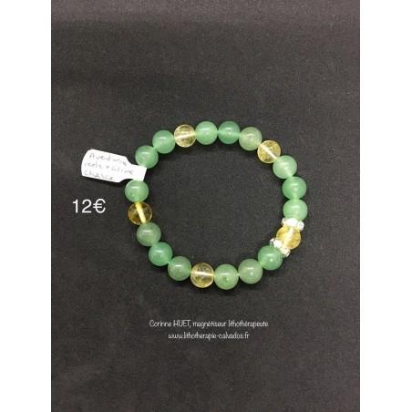 bracelet chance aventurine verte et citrine