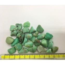 Chrysoprase pierre roulée verte